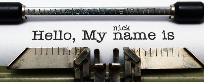Tell Us Your Nickname Discount