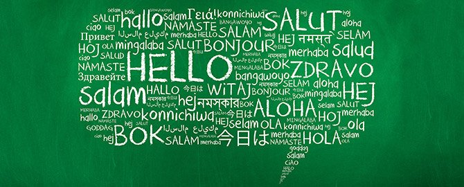Hello in Another Language Discount - Monday April 18th