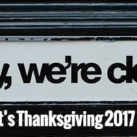 Closed for Thanksgiving 2017 - Thursday November 23rd